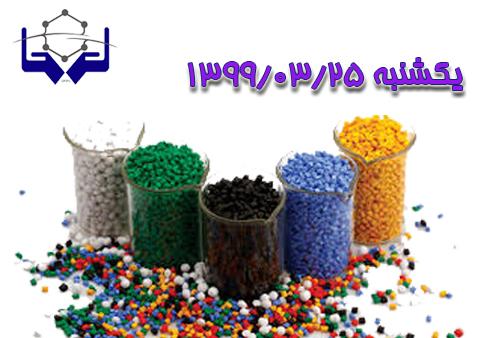 اعلام لیست مواد پلیمری ۲۵ خرداد ماه ۱۳۹۹